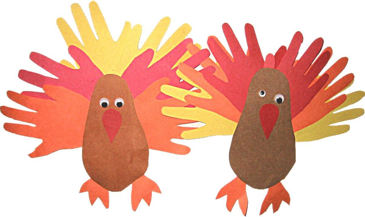 Hand and feet turkey for kids