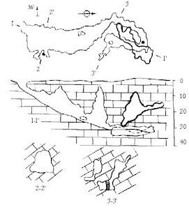 План и разрез вскрытой пещеры Суук
