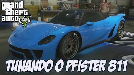 gta v tunando o pfister 811 carro novo super dlc