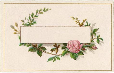 Pretty French Roses Label!   The Graphics Fairy