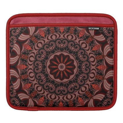 Chocolate, Raspberries, Peppermint Stick Abstract iPad Sleeve