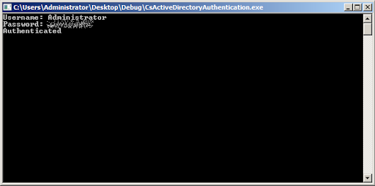 Authenticating with Active Directory