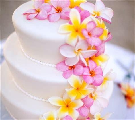 pink, yellow, wedding cake, tropical, hawaiian   Wedding