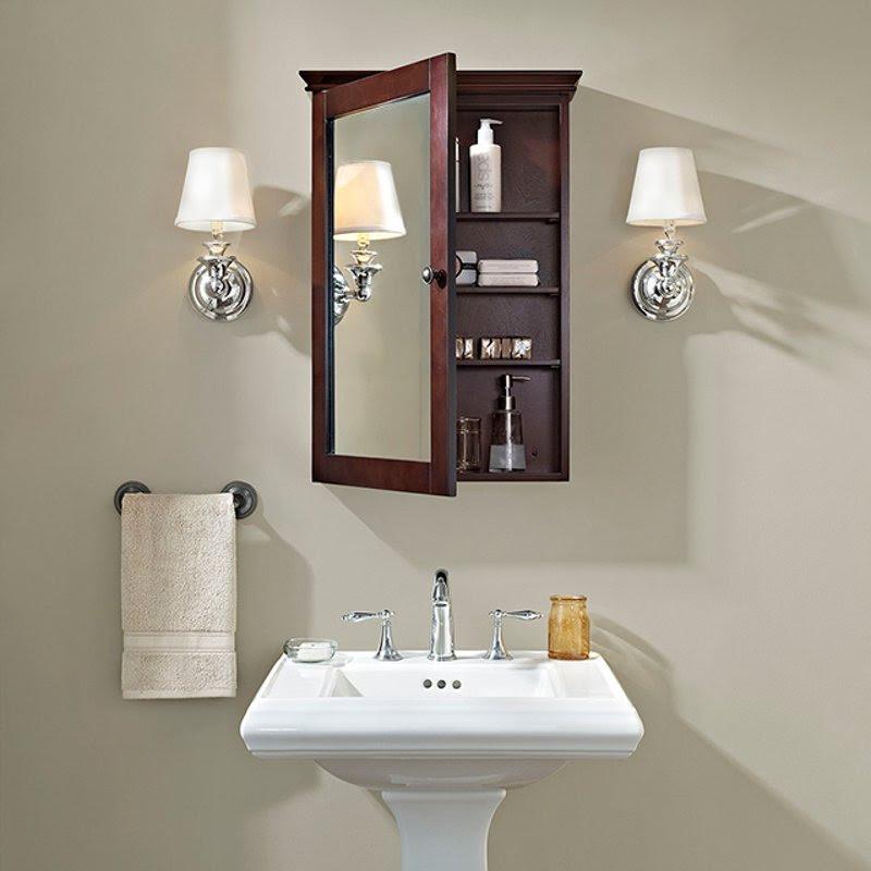 Espresso Mirrored Wall Bathroom Cabinet Lydia Rc Willey