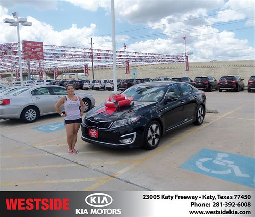 Thank you to Antonio Garza on the 2013 Kia Optima from Damon Clayton and everyone at Westside Kia!