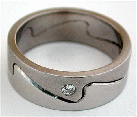 Ocean Wave ring Whitecap band