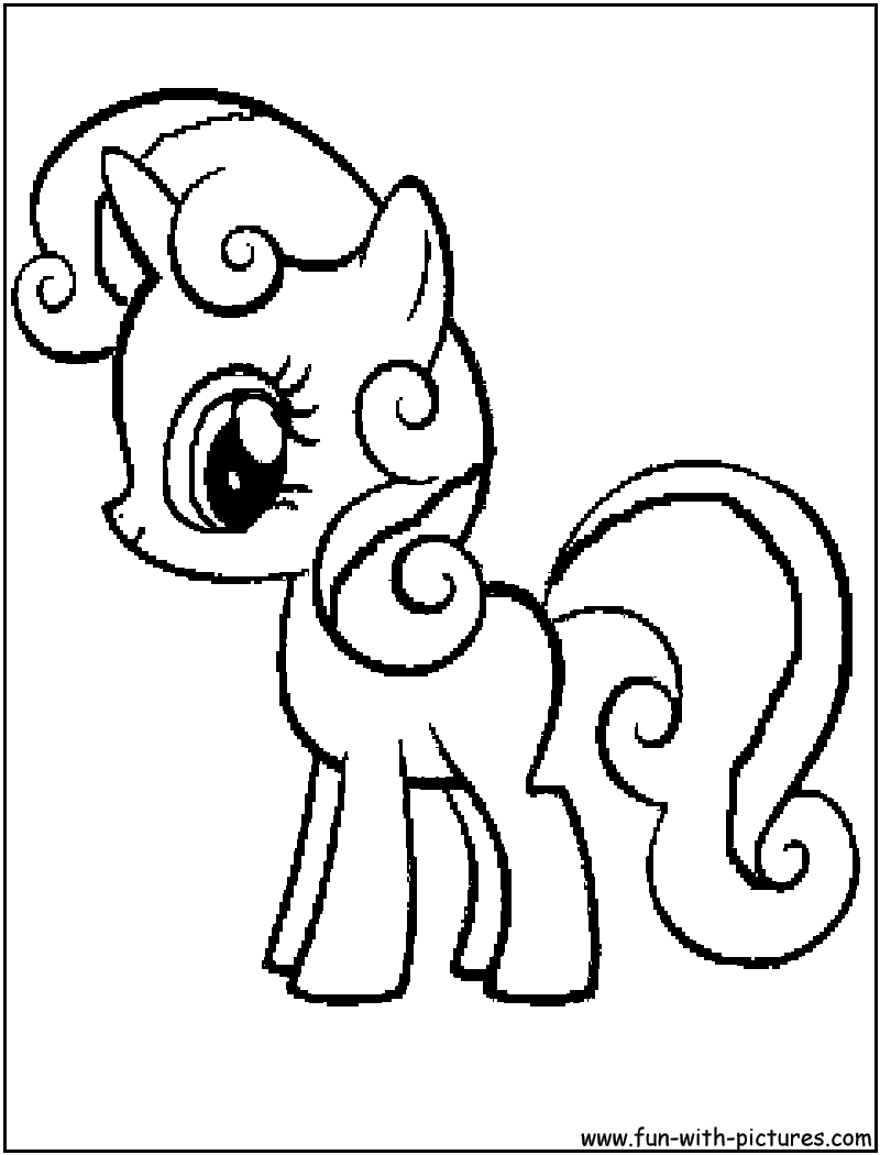 Sweetie Belle Coloring Page - Blog Images