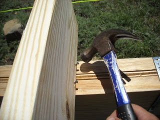 Hammering In Floor Joist Toe-Nails