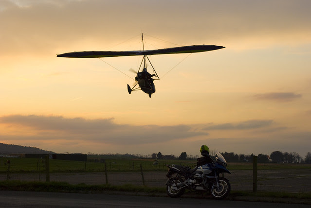 GS and microlight at East Fortune.