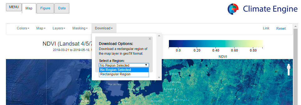 Download climate data
