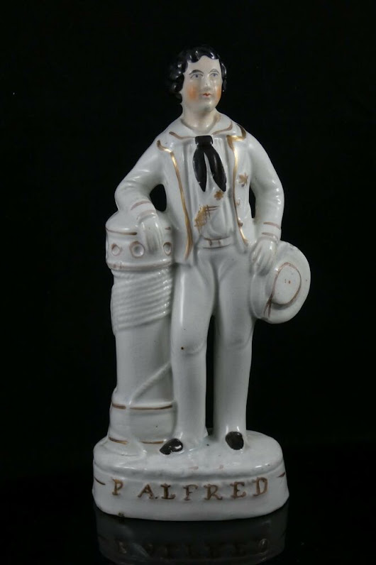 Details about Rare Antique Staffordshire Victorian Figure Prince Alfred c.1858