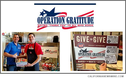 March 29 Sales at Jersey Mike's in So. California Donated to Operation Gratitude to Send Care Packages to U.S. Troops | California Newswire