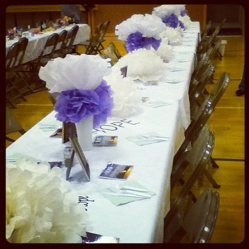 Used all of the flowers to decorate for a church activity.