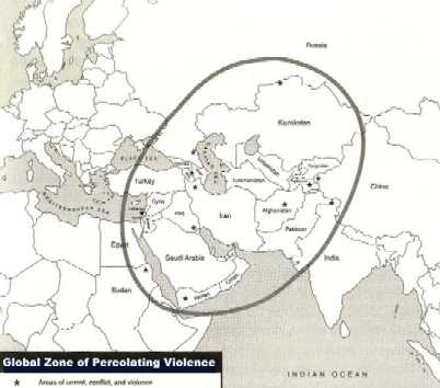 """global zone of percolating violence"""