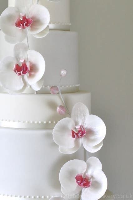 Orchid Wedding Cake   Little Boutique Bakery