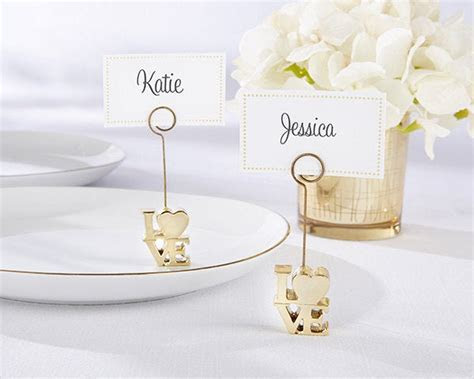 Wedding Place Card Holders Gold Love Name Card Table Card