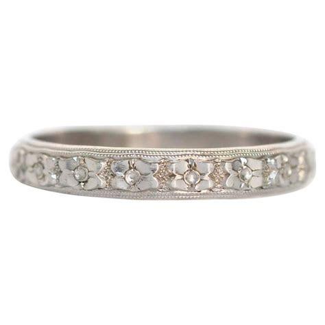 1920s Art Deco Men's White Gold Wedding Band Ring at 1stdibs