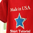 Made in USA Star Shirts using Silhouette Interfacing & GIVEAWAY