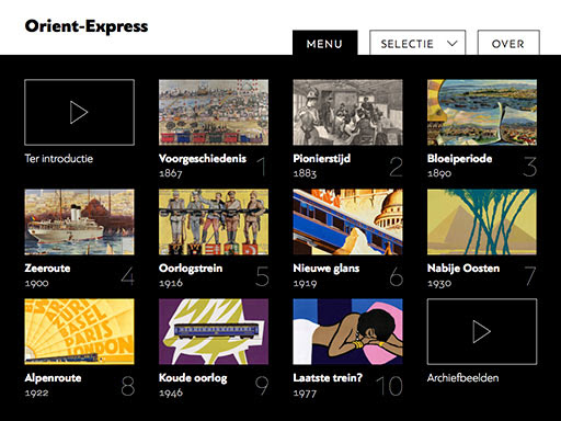 Uitnodiging preview / test iPad-app Orient-Express | Traiecto