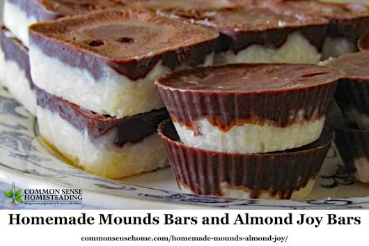 Easy Homemade Mounds Bars and Almond Joy Bars