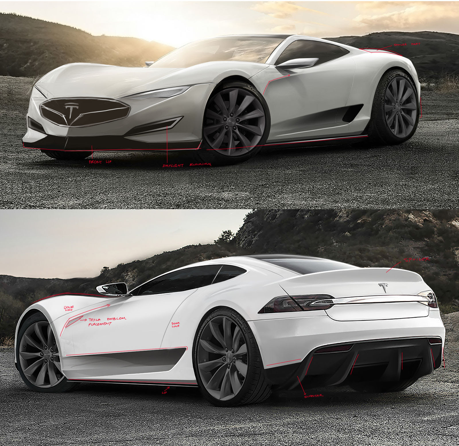 2016 Tesla Model R hypercar concept: design sketches | carwow