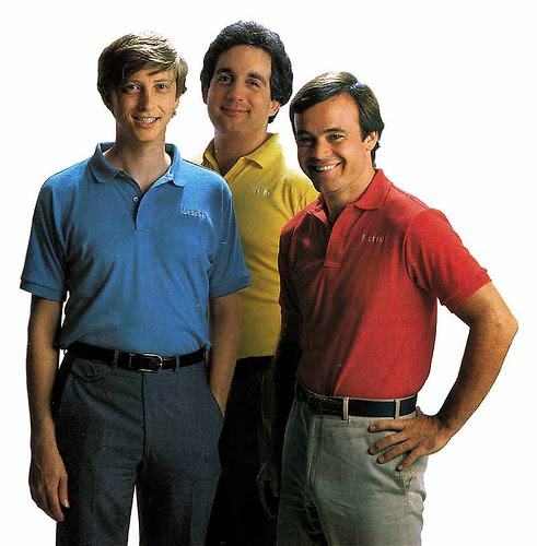 Young Bill Gates, Mitch Kapor and Fred Gibbons