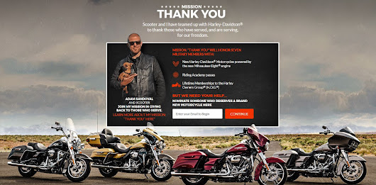 Adam Sandoval & Harley-Davidson Show Our Military/Vets Love