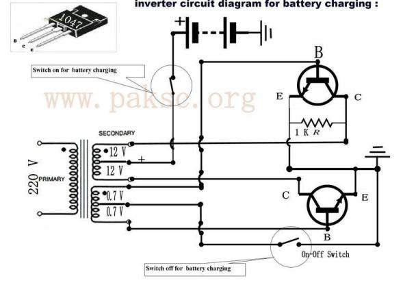 simple inverter circuit diagram 1000w