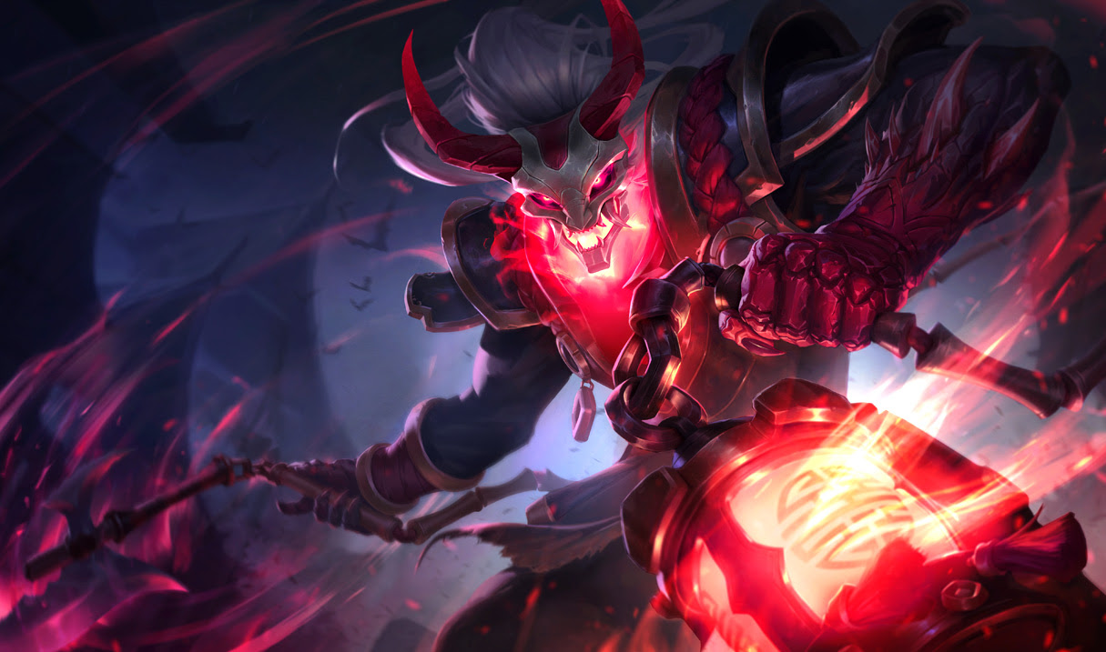 Blood Moon Thresh Skin League Of Legends Wallpapers