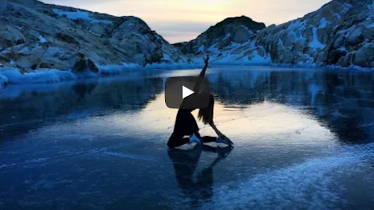 On A Frozen Lake On A Mountain Top, She Feels Like She's Skating In Heaven, In A Fantastic Dream! - Faithreel.com