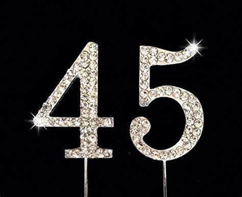 45th Birthday / Wedding Anniversary Number Cake Topper