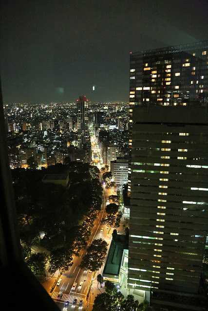 Night view of the Western side of Shinjuku