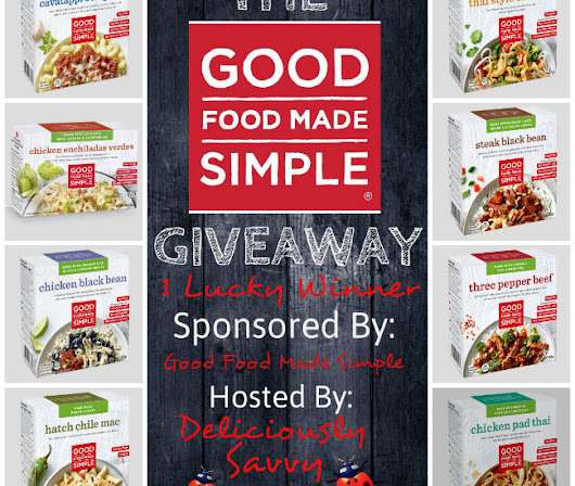 Good Food Made Simple Giveaway @GFM Simple