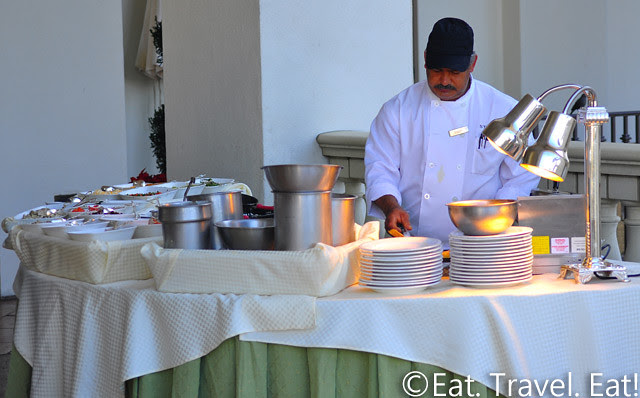St Regis Monarch Beach- Dana Point, CA: Motif- Breakfast Buffet Cooking Station (Omelets, Waffles, Pancakes)