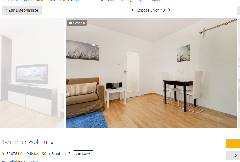 1 zimmer wohnung 50676 k ln altstadt s d. Black Bedroom Furniture Sets. Home Design Ideas