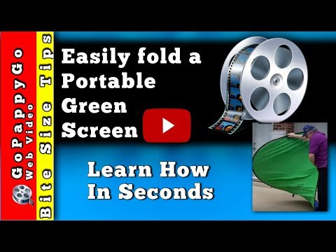 How to Fold a Green Screen Pop Up Background.