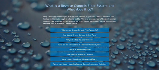 Reverse Osmosis System | Mineral Pro