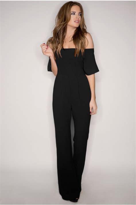 binky black   shoulder jumpsuit la mode