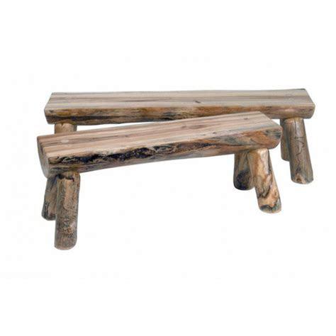 aspen mountain  log bench log bench aspen mountain