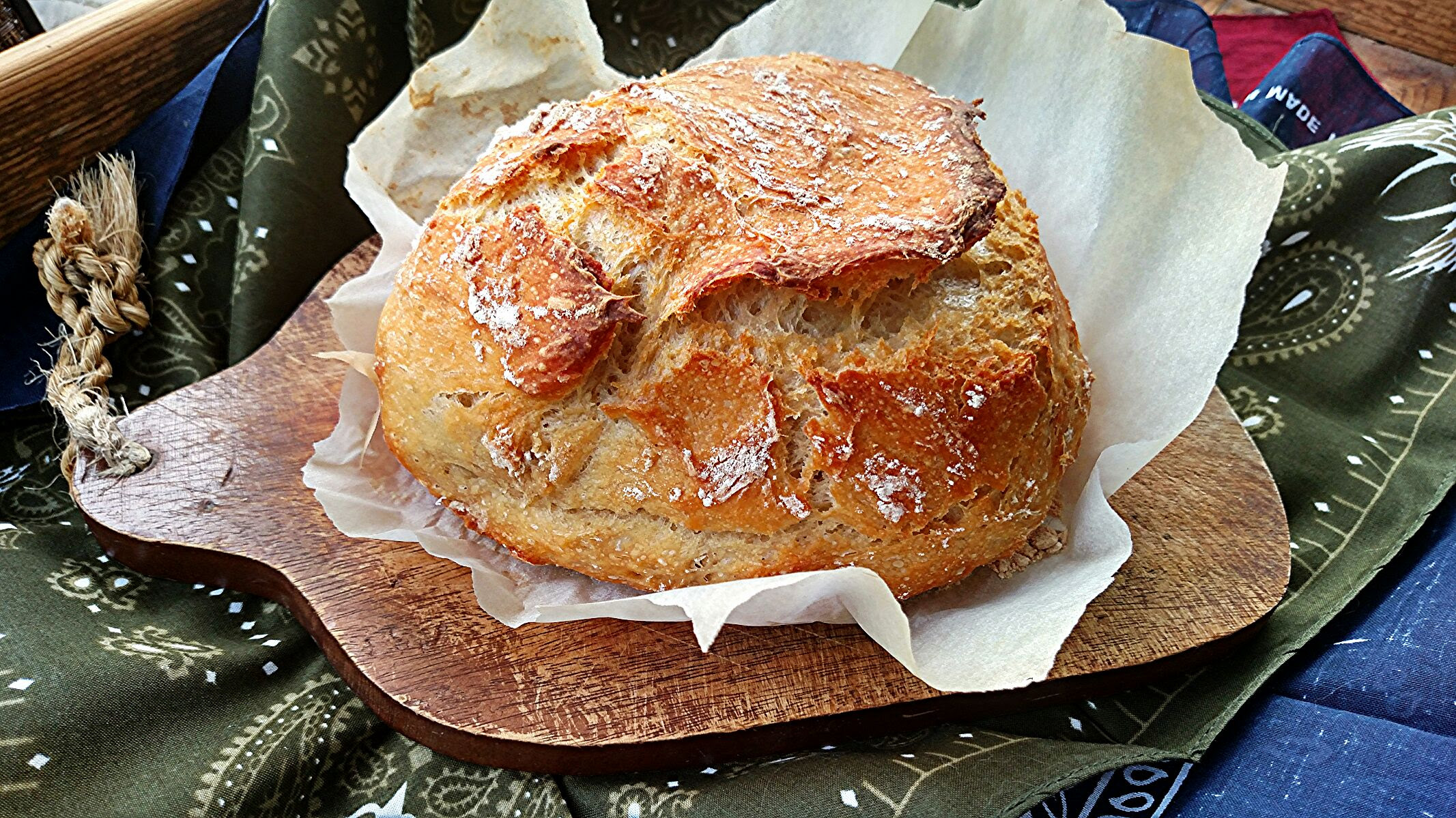 No Knead Dutch Oven Crusty Artisan Bread - Cook'n with Mrs. G