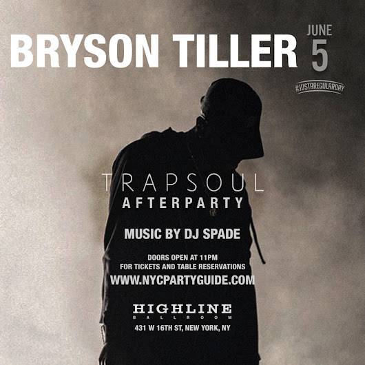 The Official Summer Kick Off Weekend with Bryson Tiller at Highline Ballroom!