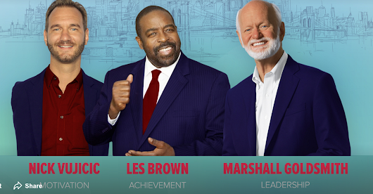 Synergy Global Forum 2018 Inspiration Day with Les Brown, Nick Vujicic & Marshall Goldsmith
