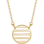Gold Necklace - Enamel Stripe Necklace - Gifts for Mom - Bridesmaid Gifts - Anniversary Gift for Her - Mother's Day Gifts for Her