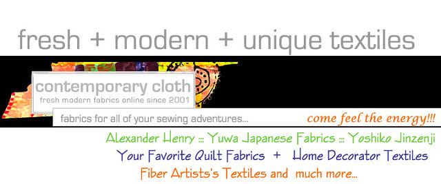 contemporary cloth header