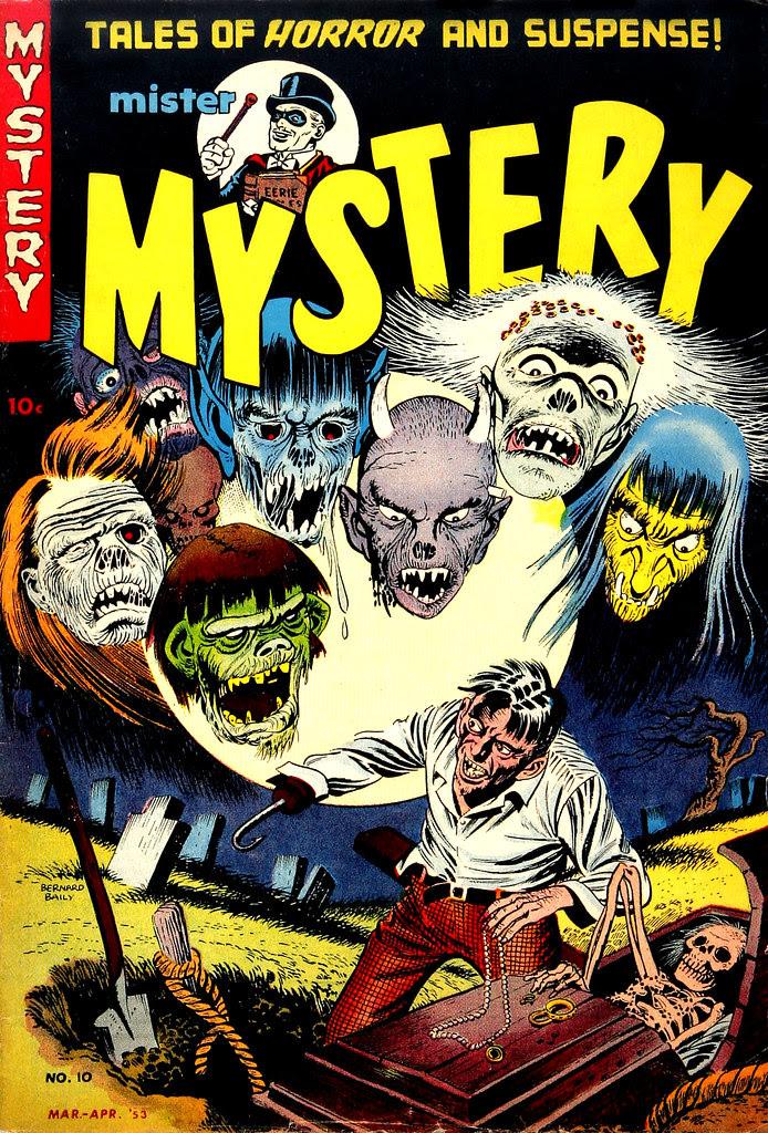Mister Mystery #10 Bernard Baily Cover (Aragon Magazines, Inc., 1953)