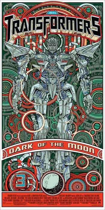 Limited edition Sentinel Prime poster for TRANSFORMERS: DARK OF THE MOON.