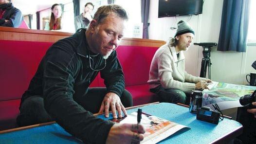 Metallica dio un show histórico en la Antártida.