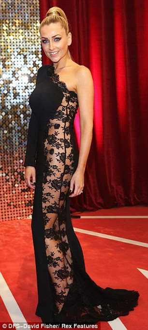 VERY daring! Gemma, who plays Carmel Valentine, wore a daring black lace gown