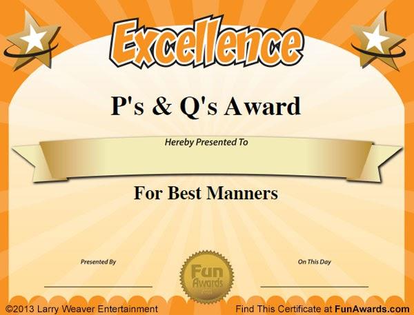 Funny Award Ideas: Funny Student Awards