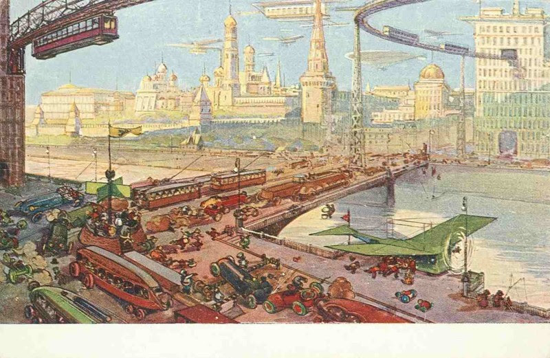 Москва будущего из 1914 года